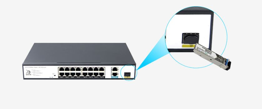 Switch PoE FMC-16PFE2GE1GF
