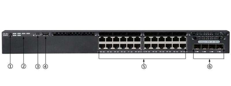 Switch Cisco WS-C3650-24TS-L