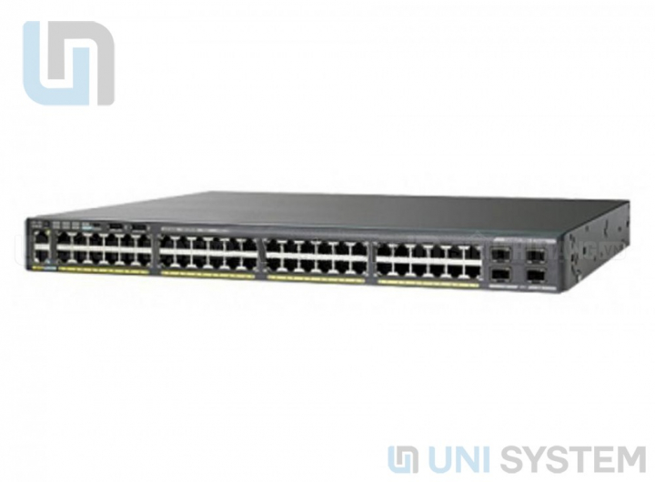 WS-C2960X-48FPS-L Cisco Catalyst 2960-X 48 GigE PoE 740W, 4 x 1G SFP, LAN Base