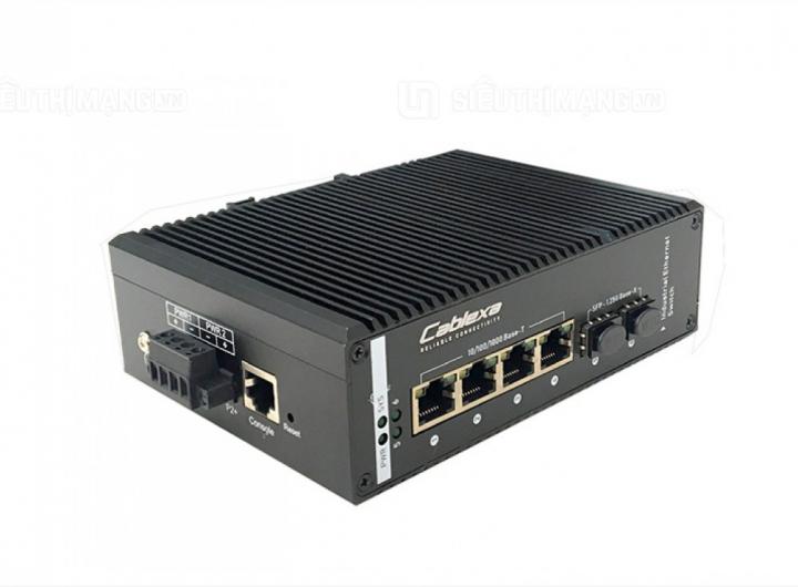 IES7210-4G2GF-CA, switch công nghiệp 4 cổng, switch công nghiệp cablexa