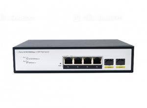 Switch PoE 4 Ports 10/100/1000Mbps, 2 Port SFP