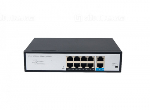 Switch Poe 8 Ports 10/100Mbps, 2 Gigabit RJ45