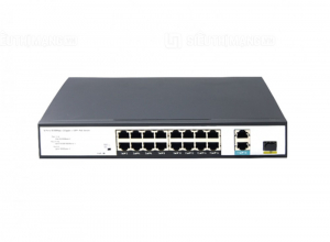 Switch PoE 16 Ports 10/100Mbps 2 Gigabit RJ45, 1 SFP