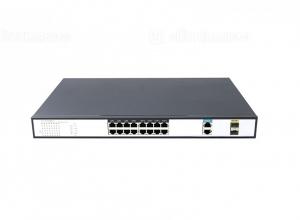 Switch PoE 16 Ports 10/100Mbps 2 Gigabit Combo Uplink