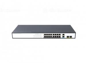 Switch PoE 16 Ports 10/100/1000Mbps, 2 Gigabit Combo Uplink