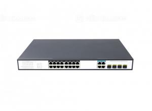 Switch PoE 16 Ports 10/100/1000Mbps, 4 Gigabit Combo Uplink