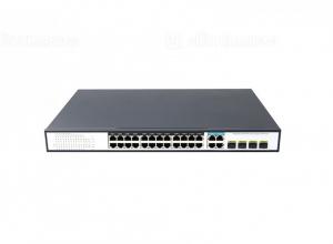 Switch PoE 24 Ports 10/100/1000Mbps, 4 Gigabit Combo Uplink