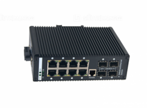 Switch công nghiệp 8 ports 10/100/1000 PoE 4 ports SFP managed