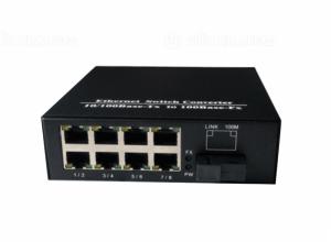 Converter quang 2 sợi 8 ports 10/100M SC Duplex 20KM